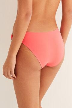 Womensecret Culotte bikini classique anneaux rose
