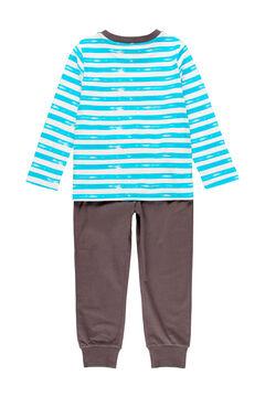 Womensecret Pijama às riscas para menino - orgânico azul