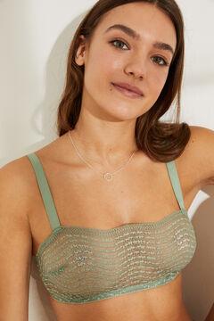 Womensecret Khaki non-wired bandeau bra beige
