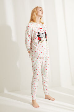 Womensecret Fleece-Pyjama Minnie Grau