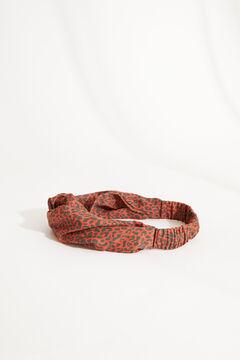 Womensecret Diadema turbante animal print marrón estampado