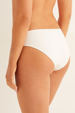 Womensecret Belted bikini bottoms  white