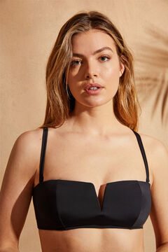 Womensecret Black V-neck bandeau top black