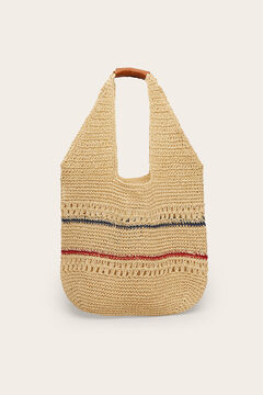 Womensecret Vacation raffia effect bag white
