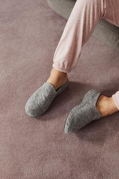 Womensecret Zapatilla zueco plano gris gris