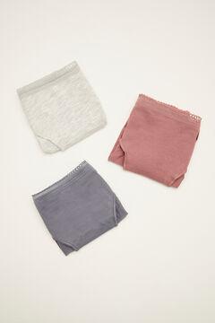Womensecret 3-pack classic cotton maternity panties printed