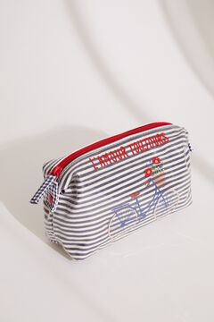 Womensecret Small sailor stripes vanity case  blue