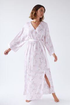 Womensecret Long floral dress pink
