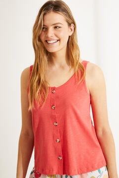 Womensecret Coral 100% cotton vest top red