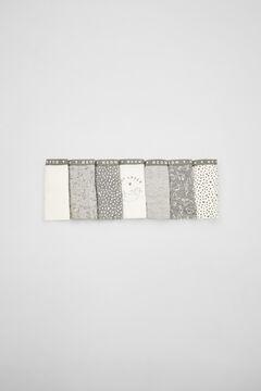 Womensecret 7-pack grey cotton cats panties  grey