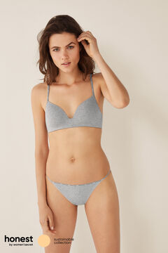 Womensecret Organic cotton triangle bra grey