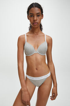 Womensecret Calvin Klein Brazilian cotton panties with waistband grey