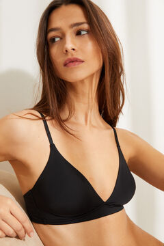 Womensecret Wireless triangular bra black