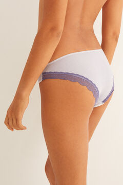 Womensecret Lilac classic cotton panty pink