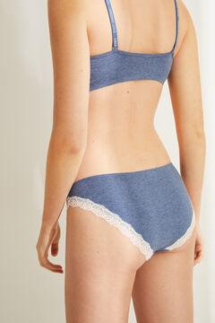 Womensecret Classic blue lace panty blue