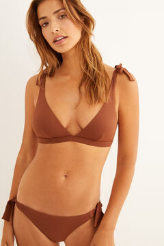 Womensecret Triangle bikini top with ties nude