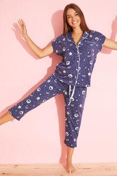 Womensecret Classic cotton Cookie Monster pyjamas blue