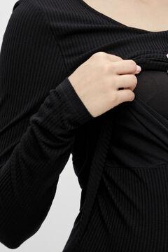 Womensecret Camiseta lactancia maternity negro