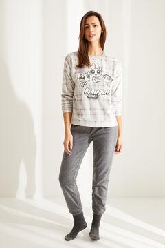 Womensecret Checked fleece Powerpuff Girl pyjamas grey