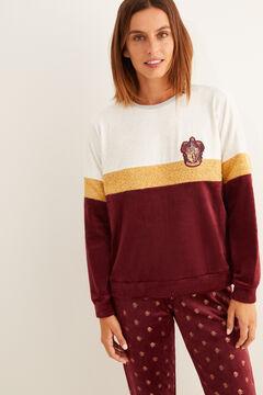 Womensecret Pijama largo estampado Gryffindor terciopelo estampado