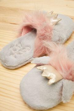 Womensecret Zapatillas destalonadas gris gato Moderna de Pueblo gris