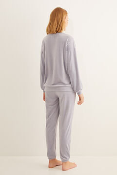 Womensecret Long lilac moon pyjamas blue