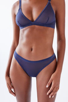 Womensecret Classic panty in blue tulle blue