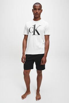 Womensecret Camiseta de manga corta de algodón con logotipo de Calvin Klein en el pecho blanco