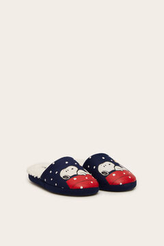 Womensecret Navy Snoopy slingback slippers blue