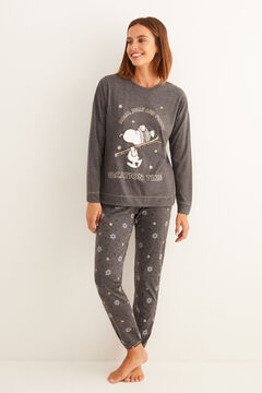 Womensecret Pyjama long gris Snoopy  gris