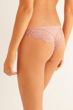 Womensecret Plumetis Brazilian panty pink