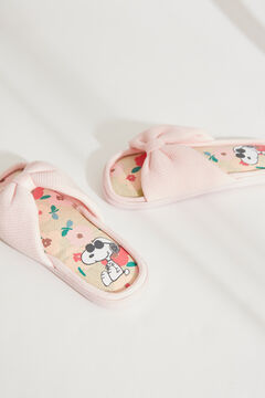 Womensecret Snoopy pink bow flip-flops pink