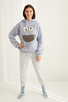 Womensecret Long fleece Cookie Monster pyjamas bleu