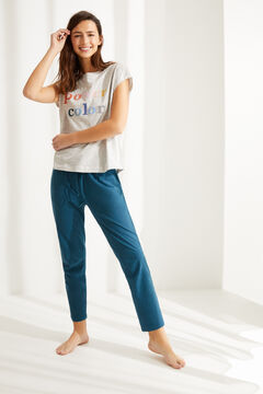 Womensecret Camiseta manga corta algodón gris gris