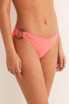 Womensecret Klasszikus bikinialsó gyűrűkkel rózsaszín