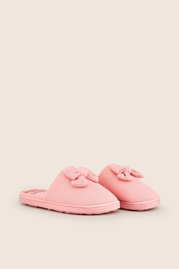 02bf68a22b Womensecret Zapatillas casa de tela con lacito rosa