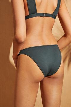 Womensecret Classic floral print bikini bottoms green