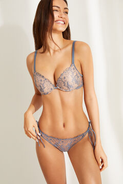 Womensecret GORGEOUS Blue embroidered lace push-up bra blue
