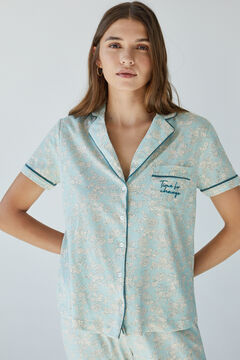Womensecret Classic green sustainable cotton pyjamas green