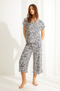 Womensecret Classic short-sleeved zebra pyjamas white