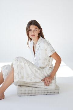 Womensecret Classic tropical short-sleeved pyjamas white