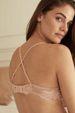 Womensecret BEAUTIFUL Classic pink lace padded bra pink