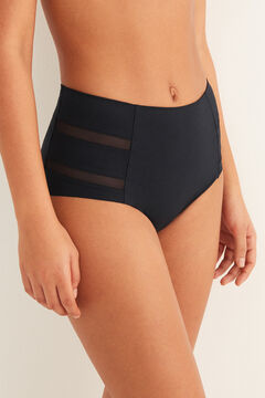 Womensecret High waist sheer panty black