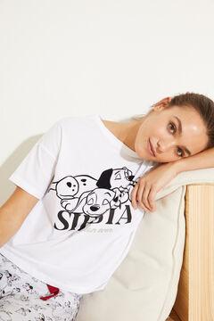Womensecret White cotton 101 Dalmatians long pyjamas white