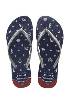 Womensecret Chanclas SLIM NAUTICAL azul