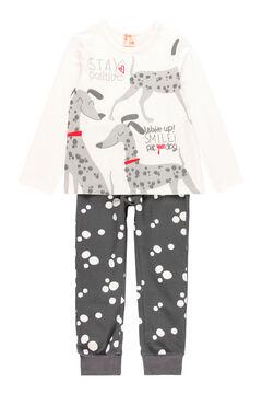 Womensecret Pijama malha bolinhas para menina - Algodão orgânico branco