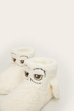 Womensecret Pantufas bota Hedwig pelos beige