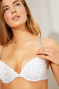 Womensecret GORGEOUS Floral push-up bra white