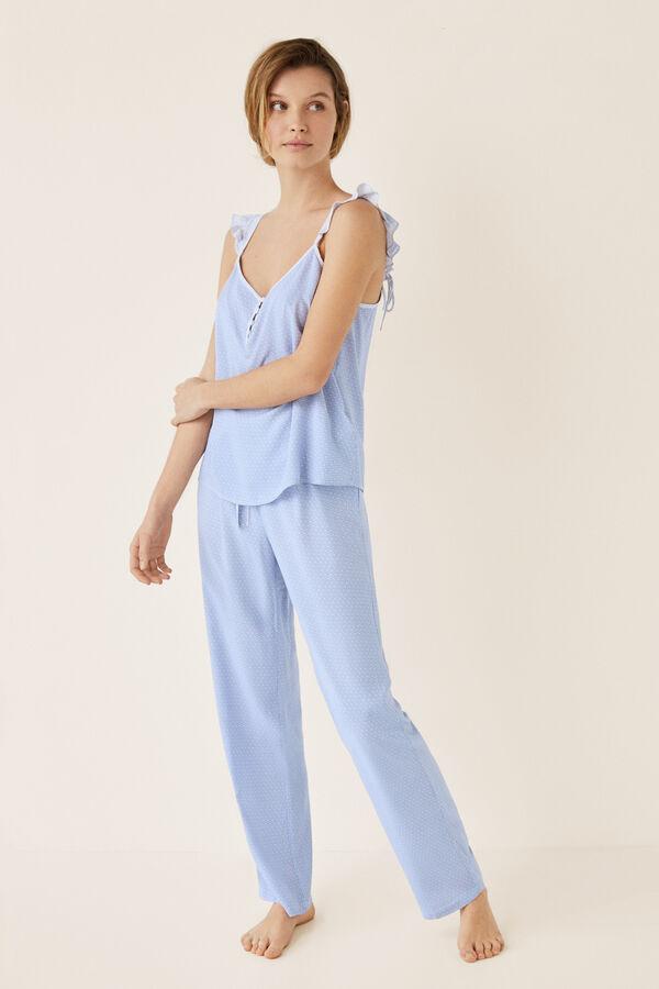 40f2a38e16 Long pyjamas in small floral print. €29.99 €20.99. Womensecret Pijama largo  estampado micro beige
