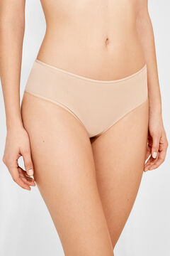 Womensecret 3 microfiber panties pack nude